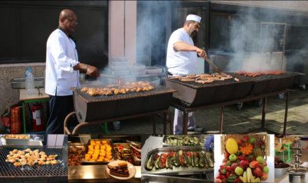 Le BBQ bio des chefs au restaurant scolaire