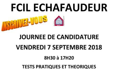 Candidature FCIL Échafaudeur