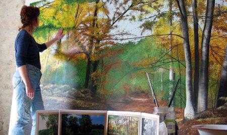 Intervention de Nadine Frot, peintre en décoration