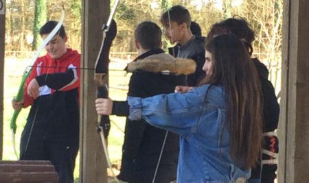 Tour Denecourt et première séance de tir à l'arc